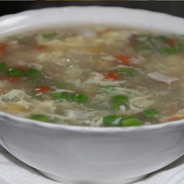 supa cu fructe de mare & ou